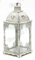 Подсвечник в форме фонарика со стеклом