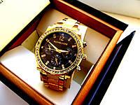 Женские часы Michael Kors Black Shadow золотые