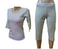 """Комплект спальный женский бриджи с футболкой 3/4 PK 08 """"Ego"""" 95% хлопок цвет сиреневый"""