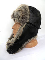 Стильная зимняя шапка ушанка мужская