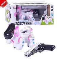 Собака робот на лазерном управлении