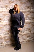 Брючный спортивный костюм двухнитка + отделка стёганый трикотаж размеры 50 52 54