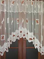 Тюль кухонная-арка сабстрактным рисунком
