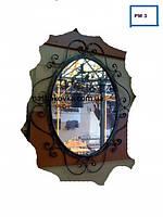 Овальное кованое зеркало