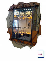 Квадратное кованое зеркало
