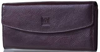 Вместительный кошелек-клатч из кожи  WANLIMA (ВАНЛИМА) W50040270835-coffee (коричневый)