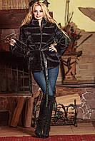 Полушубок Мутон с воротником стойкой, фото 1