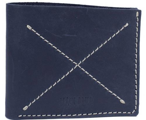 Удобное кожаное мужское портмоне Black Brier П-13-97 темно-синий