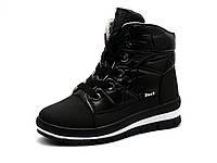 """Зимние кроссовки """"BaaS"""", высокие, на меху, черные, фото 1"""