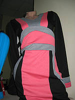 Трикотажное платье коралл М идет на 44