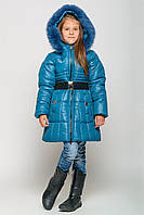 """Детская стильная зимняя куртка """"Колокольчик"""" в расцветках"""