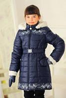 """Детская стильная зимняя куртка """"Снежок""""+варежки (2 цвета)"""