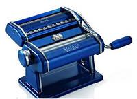 Машинка для раскатки теста + лапшерезка Marcato Atlas 150 Blu