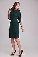 Вязаное платье на натуральной трикотажной подкладке, бутылочный