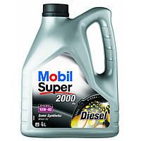 Моторное полусинтетическое масло MOBIL Super Diezel 10W-40 4L (ACEA A3/B3, VW 501.01/505.00, MB 229.1)