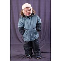 Зимний костюм - комбинезон ( куртка+штаны) однотонный для мальчика