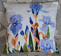 Декоративные наволочки с цветами ириса  (45х45)