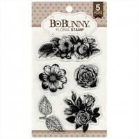 Штампы акриловые Floral (растения-цветы) Bo Bunny  12105894