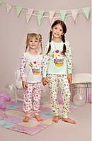 Красивая трикотажная пижама для девочки подростка рост 140,152,158