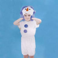 Детский карнавальный костюм Снеговик меховой