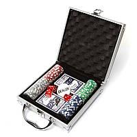 Покерный набор, 100 фишек с номиналом