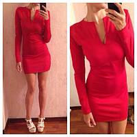 Платье с вырезом-каплей