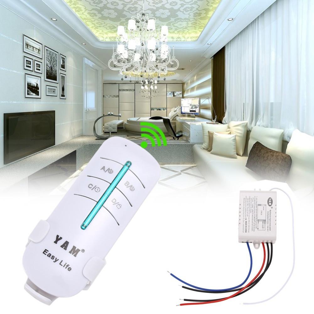 2-канальный беспроводной выключатель освещения 220В