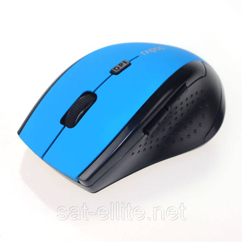 Беспроводная игровая мышь мышка Rapoo голубая