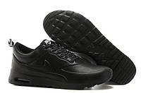 Кроссовки кожаные мужские Nike air max Thea Leather Black Оригинал
