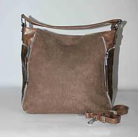 Стильная женская сумка SilviaRosa, кофе