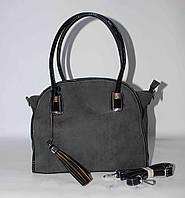 Женская сумка с кисточкой SilviaRosa, серая