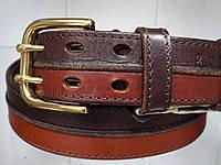 Мужской кожаный джинсовый ремень пояс винтажный