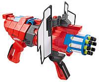 Бластер Массовый залп и 8 пуль BOOMco Twisted Spinner Blaster Оригинал от Mattel из США