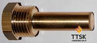 Погружная медная гильза для датчика температуры 1/2, 7х8мм