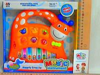 Пианино игрушечное Жираф(музыка, свет)