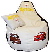 Бескаркасное детское кресло груша пуфик Тачки дл\ детей