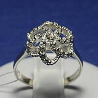 Ювелирное кольцо серебро с фианитами в виде цветка Зара 4927-р