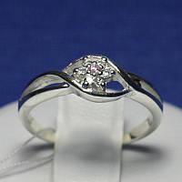 Красивое серебряное кольцо Цветок с цирконием Люция 4990-р