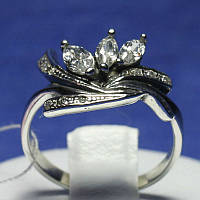 Необычное кольцо серебро с цирконием для женщин 1253
