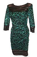 Женское платье флок