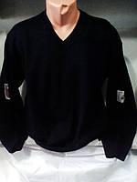 Мужской однотонный теплый свитер