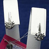 Ювелирные серебряные серьги с фианитами для девушек 21091