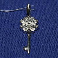 Серебряная подвеска Ключик с клевером 3180-р