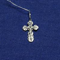 Серебряный крестик для новорожденного 3517-р