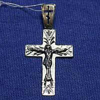 Мужской нательный крестик из серебра 3577-ч