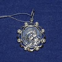 Нательная иконка из серебра Божья Матерь 3738-р