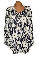 Женская рубашка-туника батал