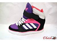 Сникерсы стильные женские Adidas осень-весна экокожа KF0117