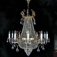 Хрустальная люстра для большого холла, зала, спальни на 22 лампочки