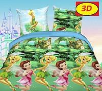Постельное белье Феи Динь-Динь ранфорс 100%хлопок - детский комплект
